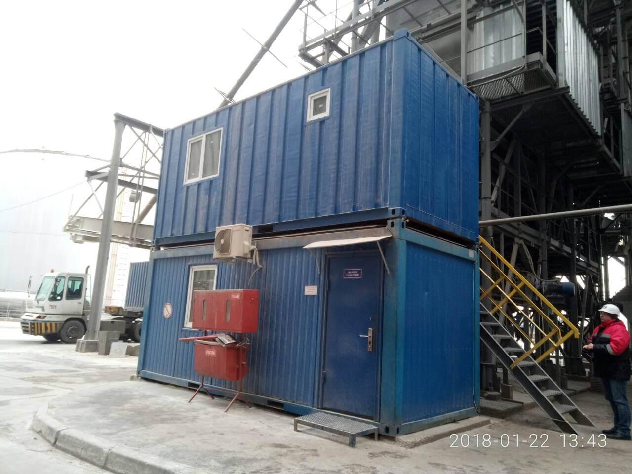 Лаборатория из морских контейнеров