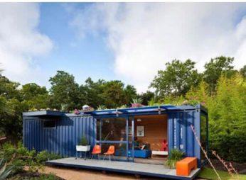 Дом из контейнера с панорамными окнами